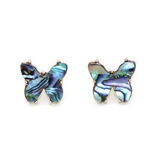 Multi color butterfly stud earrings